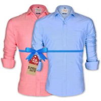 LAVELUX Premium Classic Fit Solid Cotton Formal Shirts : Combo 88