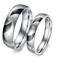 Love Heart Comfort Fit Promise Couple Ring HCL258