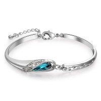 Sea Blue Crystal Bracelet for Girls and Women HCL210