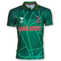 ICC Champions Trophy 2017 Bangladesh Cricket Team Jersey - Green Version Font
