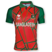 ICC Champions Trophy 2017 - Bangladesh Cricket Team Jersey (Red Version)