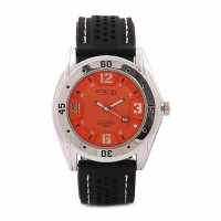 Q&Q DB00J335Y Attractive Analog Orange Dial Men's Watch