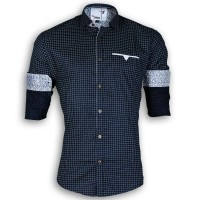 DEVIL Pure Cotton Casual Printed Shirt DE120