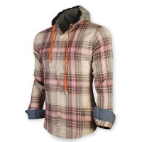 Devil Light Flannel Hooded Shirt DE723