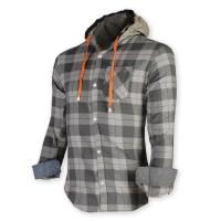 Devil Light Flannel Hooded Shirt DE724