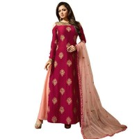 Magenta Chanderi Drashti Dhami Suit WF082