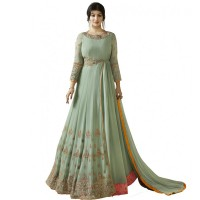 Ayesha Takia mint green embroidered Anarkali Suits WF093