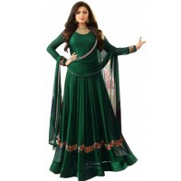 Deep Green Drashti Dhami Anarkali Suits For Women WF089