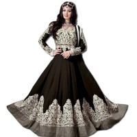 Exclusive Eid Special Ayesha Takia Abaya Style Black Anarkali Suits WF004