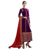 Exclusive Eid Special Purple Embroidered Salwar Kameez WF007