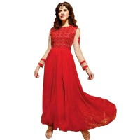 Exclusive Eid Special Red Abaya Style Anarkali Suit WF010