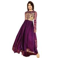 Exclusive Eid Special Purple Abaya Style Anarkali Suit WF012