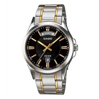 Casio Enticer Men's Black Dial Stainless Steel Band Watch MTP 1381G 1AVDF