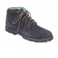 Dark Blue Full Leather Casual Boot FFS402