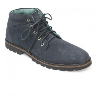 Nevy Blue Leather Casual Boot FFS406