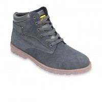 Gray Leather Casual Boot FFS416