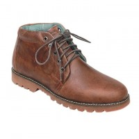 Chocolate Full Leather Casual Boot FFS425