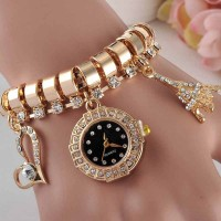 Golden Tower Analog Display Ladies Wrist Watch