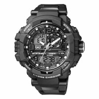 Q&Q GW86J001Y Analog Digital Black Dial Men's Watches