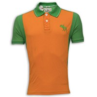 Abercrombie & Fitch Polo Shirt MH33P  Orange & Sea Green