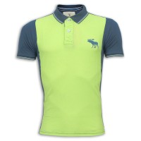 Abercrombie & Fitch Polo Shirt MH24P Lime Green & Black