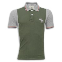 Abercrombie & Fitch Polo Shirt MH34P Belge & Black