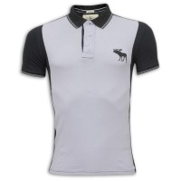 Abercrombie & Fitch Polo Shirt MH32P Dove & Black