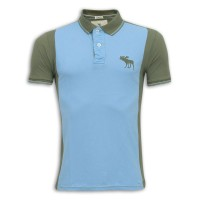 Abercrombie & Fitch Polo Shirt MH35P Sky Blue & Black