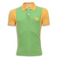 Abercrombie & Fitch Polo Shirt MH30P Sea Green & Orange