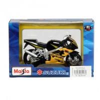 Motorrad Modell 1:18 SUZUKI GSX-R 600 gelb / schwarz von Maisto (Demo)