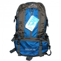 Willpower Hiking Backpack Deep Gray & Blue