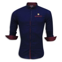 Exclusive Eid Printed Cotton Casual Shirt Collection RS24S Navy Blue