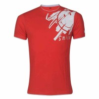 Smile Round Neck T – Shirt YG31 Red