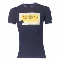 Do Me A Favor & Smile Round Neck T – Shirt YG35 Black