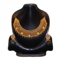 Gold Plated Silver  Nacklace Set-001