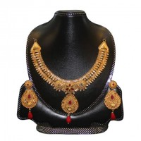 Gold Plated Silver  Nacklace Set-003
