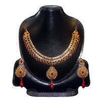 Gold Plated Silver  Nacklace Set-004