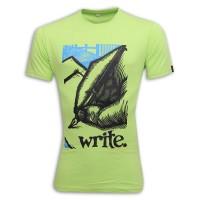 Write Round Neck T-Shirt MG38 Light Green