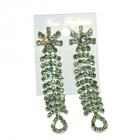 Stylish Crystal Peridot Color Stone Earring