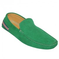 Stylish Men`s Loafer Green H807-3