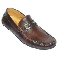 Crocodile Leather Print Loafer AS202