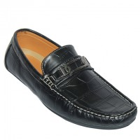Crocodile Leather Print Loafer AS203