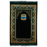 BEST Janamaz :  Plush Velvet Muslim  Prayer Rug From Turkey RS196