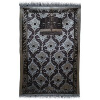 BEST Janamaz :  Plush Velvet Muslim  Prayer Rug From Turkey RS194