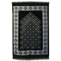 AYDIN Janamaz :  Plush Velvet Muslim  Prayer Rug From Turkey RS192