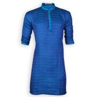 Eid Exclusive Shiny Blue Fancy Cotton Panjabi JP118