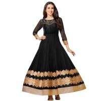 Karishma Kapoor Black Anarkali Suit WF056