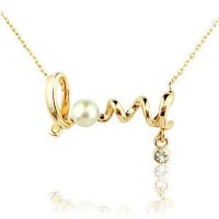 Gold LOVE Fashion Necklace