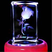 Romantic Crystal Rotating Music Box