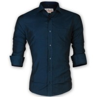 LAVELUX Premium Slim Solid Cotton Casual Shirt LMS151